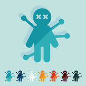 Voodoo Doll icons — Stock Vector