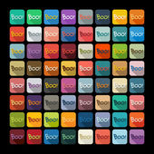 Boo icon set — Stock Vector