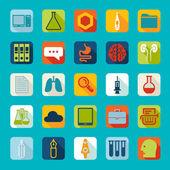 Set van medische plat pictogrammen — Stockvector