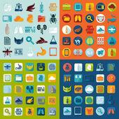 Set of veterinary flat icons — ストックベクタ