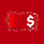 Money sticker — Stock Vector