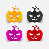Pumpkins design elements — Vettoriale Stock