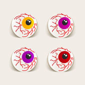 Eyes design elements — Stock Vector