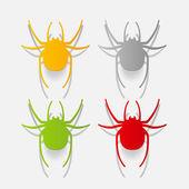 Spiders design elements — Stock Vector