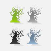 Dry tree design element — Stock Vector