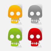 Skull design element — Stock Vector