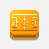 Square button: playing field — Stock Photo