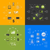 Set of business icons — Stock Photo