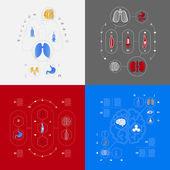 Set of medical icons — Stock Photo