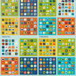 Set of flat icons: health, finance, zoo, travel — Stock Photo #50092175