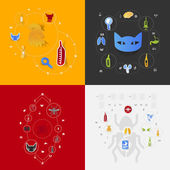 Set of veterinary icons — Stock Photo