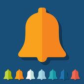 Flat design: bell — Stock fotografie