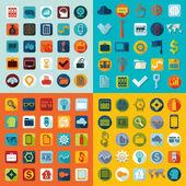 Set of flat icons — Stock Photo