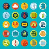 Sada lékařských ploché ikony — Stock fotografie