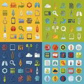 Set of medical flat icons — Stock Photo