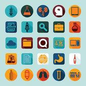 Conjunto de ícones médicos planas — Foto Stock