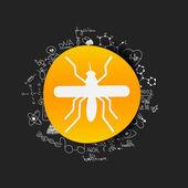 Drawing medical formulas: mosquito — Stock Photo