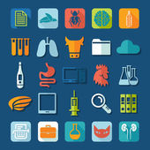 Set of veterinary flat icons — Stock Photo