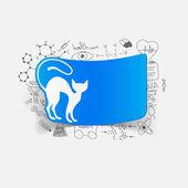 Drawing medical formulas: cat — Stock Photo