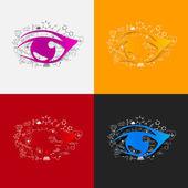 Drawing medical formulas: eye — Stock Photo