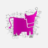 Drawing medical formulas: cow — Stock Photo