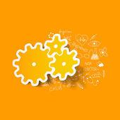 Drawing medical formulas: cogwheel — Stock Photo