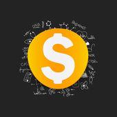 Drawing medical formulas: money — Stock Photo
