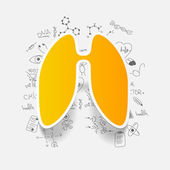 Drawing medical formulas: lung — Stock Photo