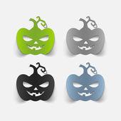 Realistic design element: pumpkin — Stock Photo
