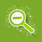 Drawing medical formulas: magnifier — Stock Photo
