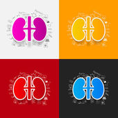 Drawing medical formulas: kidneys — Stock Photo