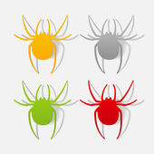Realistic design element: spider — Stock Photo
