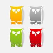 Realistic design element: owl — Stock Photo