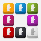 Kare düğme: eldiven — Stok fotoğraf