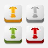 Square button: Football clothing — Foto de Stock