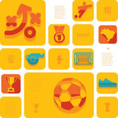 Football, soccer infographic — Stock Photo