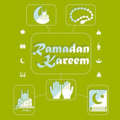 Flat infographic: Ramadan Kareem — Stock Photo