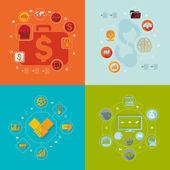 Zakelijke platte infographic — Stockfoto