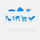 Set of sticker design. Online shopping concept — Stock Photo