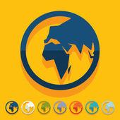 Flat design: globe — Stock Photo