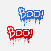 Realistic design element: boo — Stock Photo