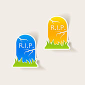 Realistic design element: tombstone — Foto Stock