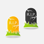 Realistic design element: tombstone — Stock Photo