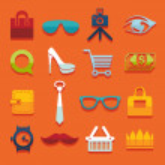 Set of fashion icons — Stock Photo #50189879