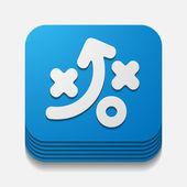 Square button: tactics — Stock Photo