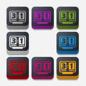 Square button: score board — Stock Photo