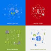 Zestaw medical ikony — Zdjęcie stockowe
