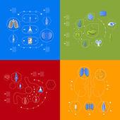 Conjunto de ícones médicas — Foto Stock
