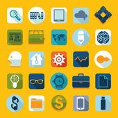 Sada plochých ikon — Stock fotografie