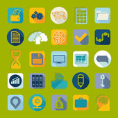 Set of flat icons — Stock Photo